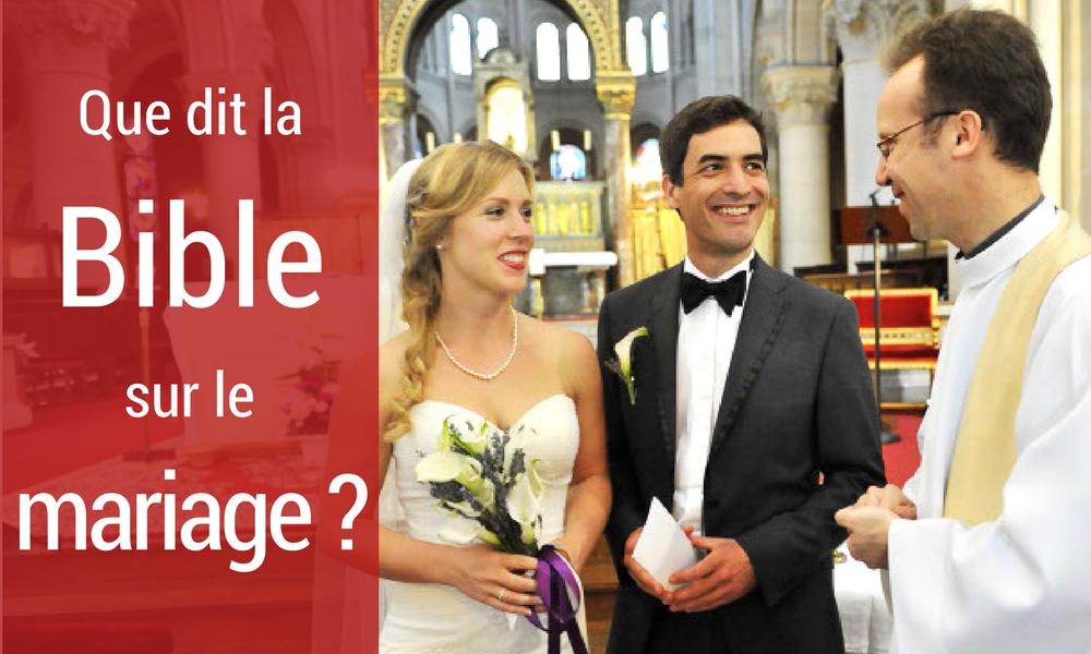 Bible sur le mariage