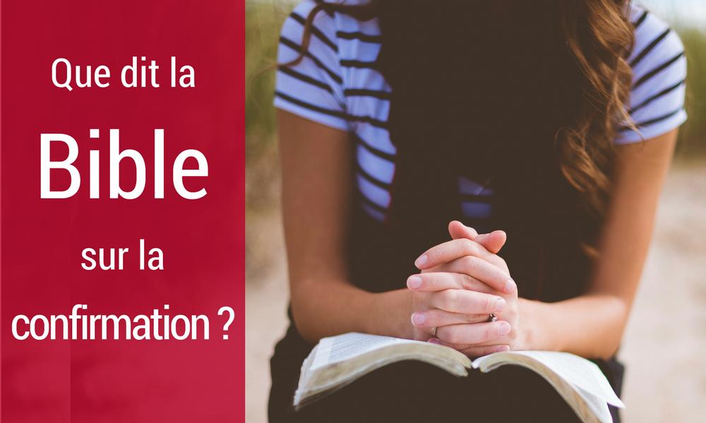 Bible sur la confirmation