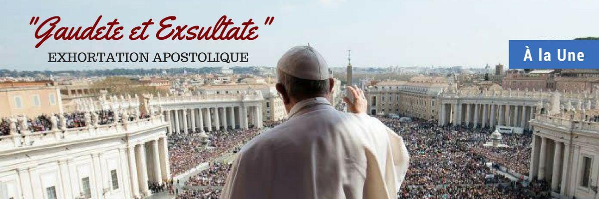À la Une - exhortation apostolique