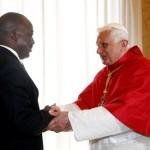 19 Juin 2008: Benoit XVI et le pdt Joseph KABILA KABANGE, Rome, Vatican.