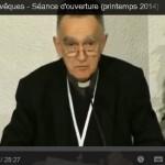 Discours d'ouverture de l'assemblée plénière d'avril 2014