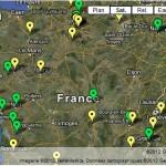Carte de France des évênements organisés à l'occasion des 50 ans de Vatican II