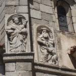 Détail de la Cathédrale d'Avila en Espagne