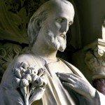 St Joseph. Sculpture du XXe s. Autel secondaire de la Cathédrale Saint Eunan, Letterkeny, Donegal, Irlande.
