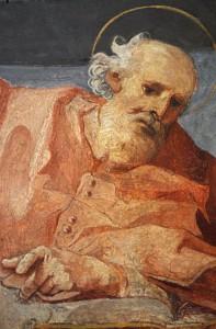 St Jérôme, fresque du XVIe s., Santa Maria in Trastevere, Rome, Italie