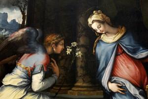 Annonciation Vierge Marie tableau Francesco Salviati 1534