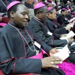 21 octobre 2008: Evêques africains, synode des évêques, Rome, Vatican.