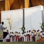 Voyage du pape Benoît XVI en Afrique vêpres à Youndé 18 mars 2009