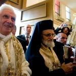 Benoît XVI à la cathédrale Saint George à Amman