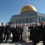 Benoît XVI Dôme du Rocher Esplanade des Mosquées Jérusalem