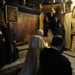Benoît XVI Grotte de la Nativité basilique Bethléem