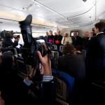 Benoît XVI avion papal retour de Terre Sainte