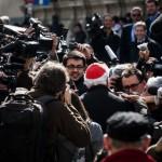 Arrivée des cardinaux au vatican pour le conclave