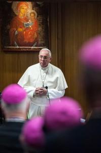 Le pape François lors du synode sur la famille