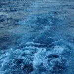 La mer Méditerranée vue d'un bateau