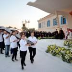 Rencontre de Benoît XVI avec les jeunes portant la Croix des JMJ, Bkerke, Harissa, Liban, Moyen Orient.