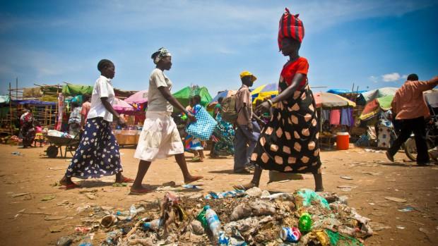 Scène de marché à Juba, Sud Soudan, Afrique