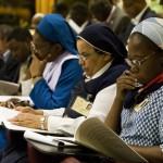 Synode des évêque d'Afrique à Rome du 4 au 25 Octobre 2009, religieuses