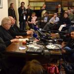 Les cardinaux français ont tenu le 14 mars 2013, une conférence de presse commune à Rome
