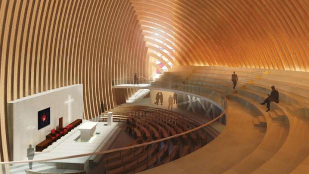 Dessin projet cathédrale Créteil +