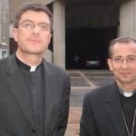 Mgr de Moulins Beaufort et Mgr Thierry Scherrer à Lourdes