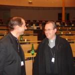 Assemblée plénière à Lourdes 2008 : vendredi 7 novembre. Mgr Brouwet et Mgr Jordy