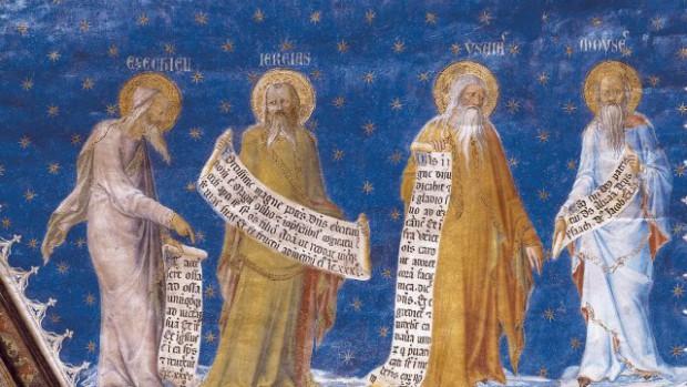 Les Prophètes Ezéchiel, Jerémie, Isaïe et Moïse.