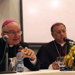 Mgr Fouad Twal patriarche latin de Jérusalem Mgr Antonios Franco nonce apostolique