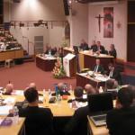 Robert Rochefort à L'Assemblée plénière, lourdes, mars 2010