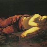 Jésus endormi sur la croix