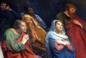 Le Mesnil le Roi - détail Pentecôte de F-E Picot