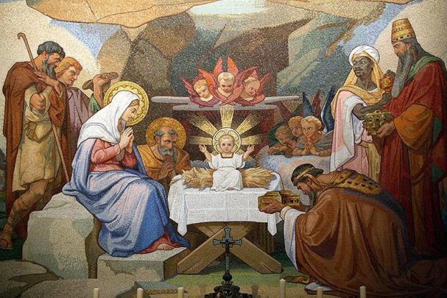 Naissance de Jésus, Lourdes