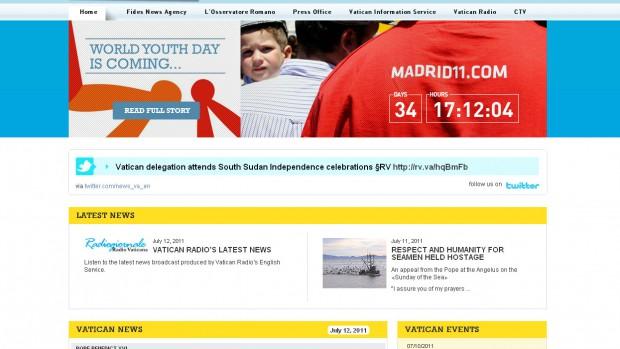 News.va, le site d'actualité du Vatican