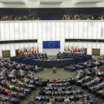 jeunes pélerins au Parlement européen de Strasbourg