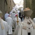 Pèlerinage des prêtres au Mont St Michel avril 2009