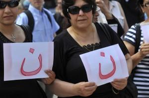 Rassemblement silencieux de soutien aux Chrétiens d'Irak