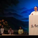 15 août 2014 : Le Pape François parle pendant une rencontre avec les jeunes asiatiques au sanctuaire de Solmone (Corée du sud).
