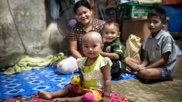 Famille birmane en Thaïlande