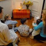 Prière en famille