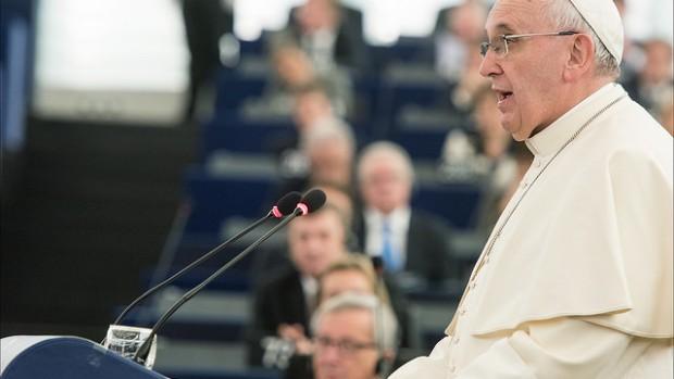 Le Pape François au Parlement européen de Strasbourg le 25 novembre 2014