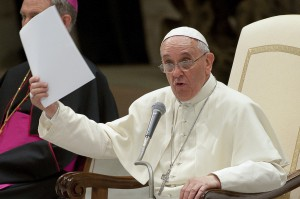 Audience pour les séminaristes et novices au Vatican
