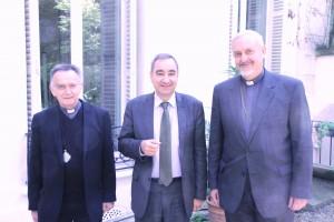 Co-présidents du CECEF - Mgr Pontier Pasteur Clavairoly Metropolite Emmanuel