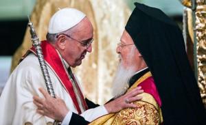 Le pape François avec Bartholomée 1er à Istanbul