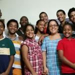 David Macaire et une famille
