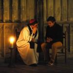 Mgr Eric de Moulins-Beaufort et un jeune au pèlerinage de Chartres