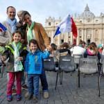 famille française à Rome pour la canonisation des époux Martin
