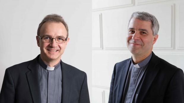 Mgr Jachiet et Mgr verny évêques auxiliaires de paris
