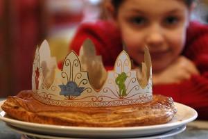 06 janvier 2008: Epiphanie, galette des rois, France.