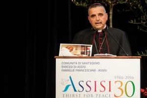 Mgr Lebrun Rencontre internationale pour la paix à Assise (Italie)