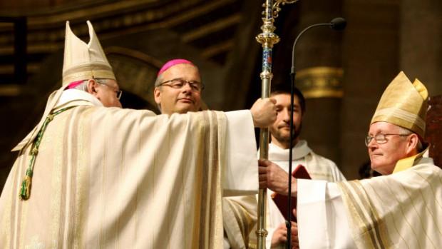 Joseph_Doré_Christian_Kratz_Jean-Pierre_GralletMgr GRALLET archevêque de Strasbourg